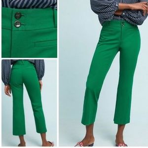 Anthropologie | Green The Essential Crop Flare